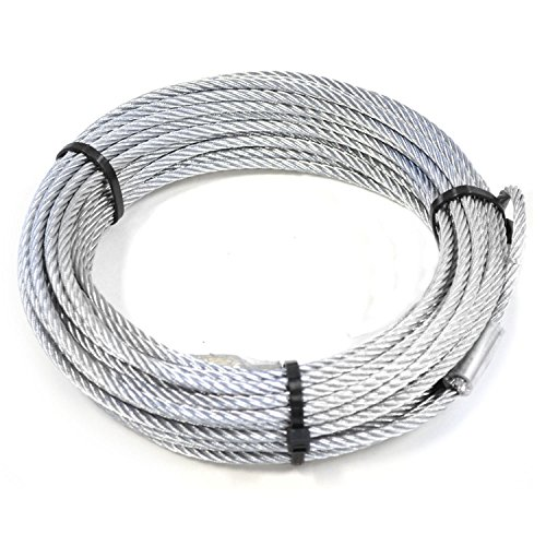WARN 15236 Replacement Wire Winch Rope (Cable Quad Snake)