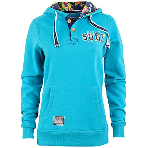 Urban Beach Haze Mesdames Sweat à capuche bleu clair
