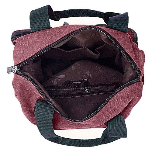 sac Sac à Shopping main Vin Multi Gindoly Toile tout pour de Grand et à l'école pour Rouge poches Sacs fourre voyage travail femme bandoulière Hobo n4zrqx48pw