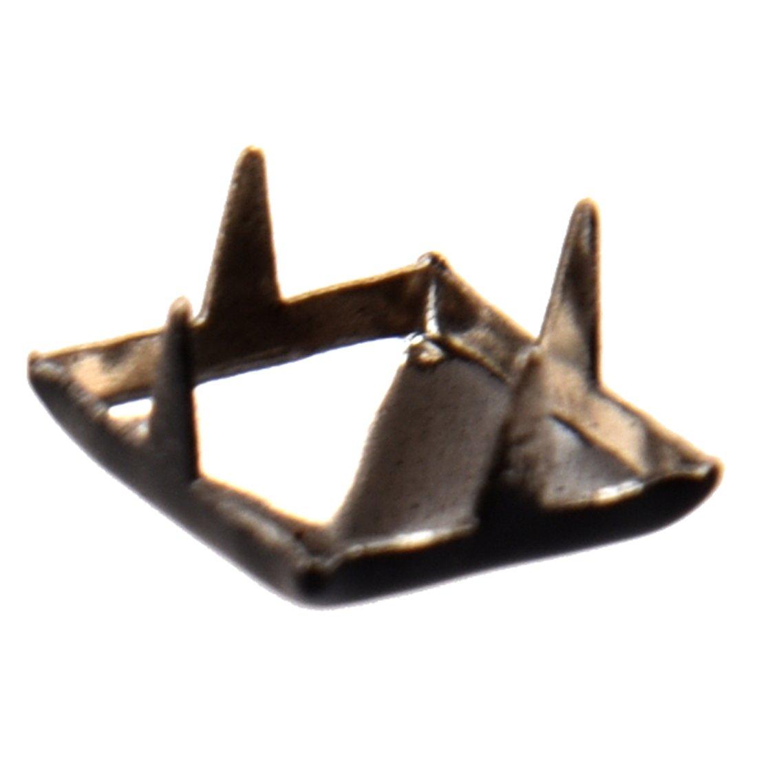 100pcs Pyramid Studs Spots Punk Spikes for DIY Craft Leathercraft Black R SODIAL