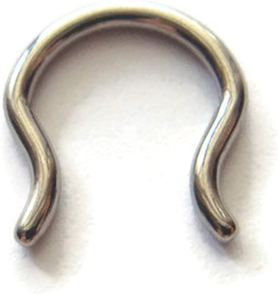 Amazon Com 12g Diameter 12mm Septum Retainer In A Bell Shape With