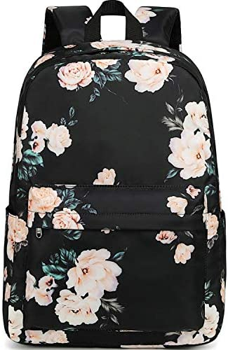 School Backpack Floral Daypacks Black 0066 product image