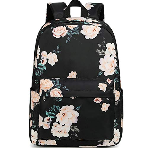 School Backpack for Teen Girls Floral Laptop