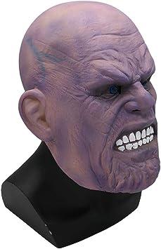 FUGUI Thanos máscara de Halloween Disfraz Fiesta Props máscara de ...