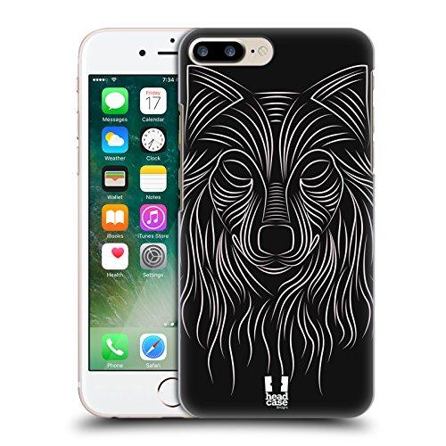 Head Case Designs Lupo Animali Righe Cover Retro Rigida per Apple iPhone 7 Plus / 8 Plus