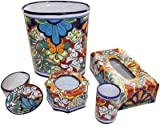 Multicolor Talavera Ceramic Bathroom Set