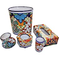 Fine Crafts Imports Multicolor Talavera Ceramic Bathroom Set