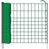 Filet de clôture électrique 12 m H : 65 cm vert VOSS.farming 9 piquets simple pointe lapin chat chien petits animaux