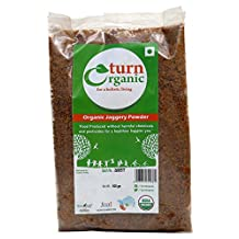 Turn Organic Pure Organic Jaggery Powder 17.6 Ounce - USDA Certified