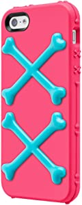 SwitchEasy SW-BONEI5-P Bones Hybrid Case for iPhone SE , iPhone 5 and iPhone 5s - Poison Pink