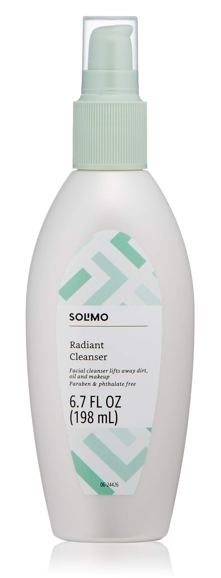 Amazon Brand - Solimo Radiant Cleanser, 6.7 fl oz (Pack of 1)