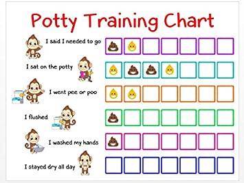 Amazon com potty training sticker chart reward monkey design for
