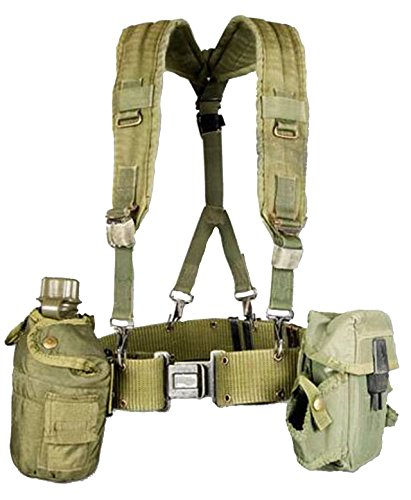 Military Outdoor Clothing Previously Issued US GI OD Green Canteen Set with (Vietnam Helmet)