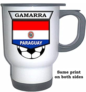 Amazon.com: Carlos Gamarra (Paraguay) Soccer White Stainless ...