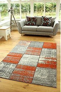 Rug Modern Designer Living Room Swing Color Gradation Orange