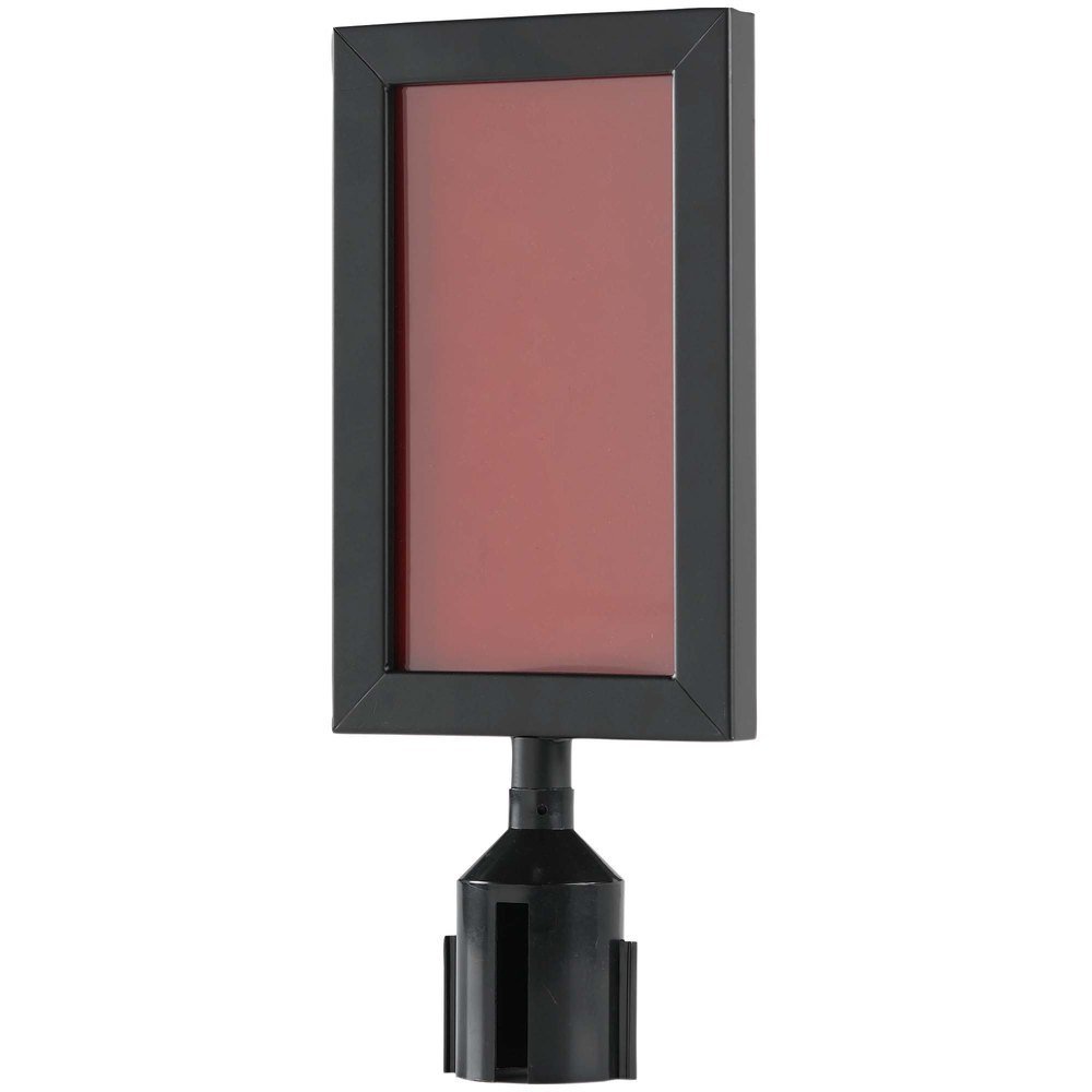NEW Aarco 11 1/8'' x 8 5/8'' Black Finish Vertical Removable Steel Stanchion Sign Frame