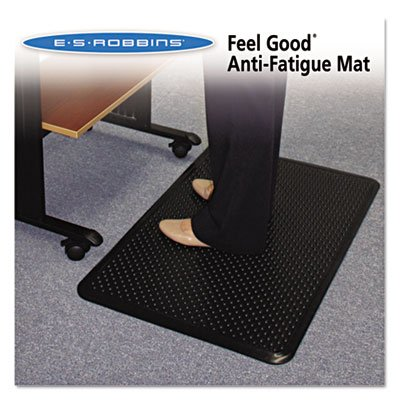 Feel Good Anti-Fatigue Floor Mat, 36 x 24, PVC, Black, Sold as 1 Each