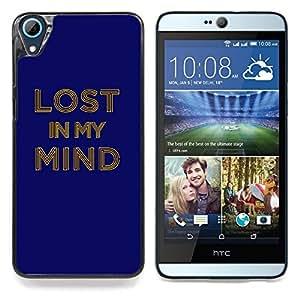 """A-type Arte & diseño plástico duro Fundas Cover Cubre Hard Case Cover para HTC Desire 826 (La vida continua"""")"""