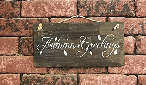 Autumn Greetings Barn Wood Sign -