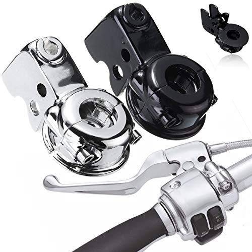 (CUSODI | Levers, Ropes & Cables | Motorcycle Clutch Lever Mount Bracket Perch for Harley Touring Glide Softail Dyna Sportster 883 Chrome Black)