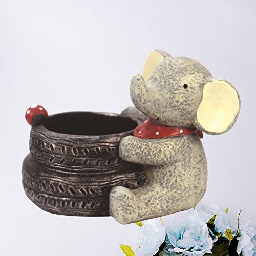 VORCOOL Cartoon Elephant Flower Pots Children's Room Desktop Decor Potted Flowerpot Creative Home Decoration Flower Vase by VORCOOL (Image #4)