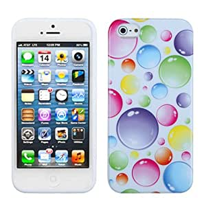 Fits Apple iPhone 5 Soft Skin Case Rainbow Bigger Bubbles Candy AT&T, Cricket, Sprint, Verizon (does NOT fit Apple iPhone or iPhone 3G/3GS or iPhone 4/4S)
