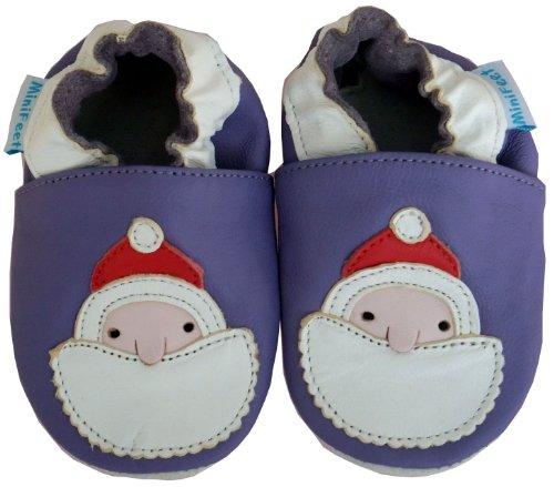 Chaussures bébé MiniFeet en cuir souple, Père Noël