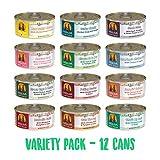 Weruva Grain Free Canned Dog Food Variety Pack, 5.5 oz Each, 12 flavor