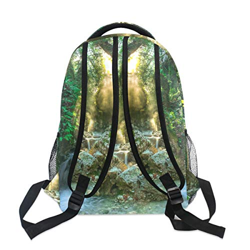 37d513e1de41 Amazon.com: FAJRO in The Wood Torrent Travel Backpack Handbag School ...