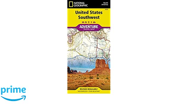 United States Southwest National Geographic Adventure Map National Geographic Maps Adventure 9781566957151 Amazon Com Books