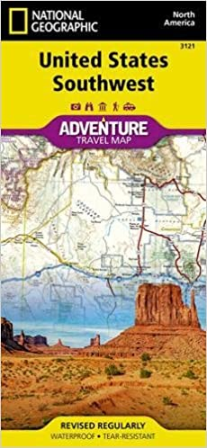 United States Southwest National Geographic Adventure Map - Us map geographic image