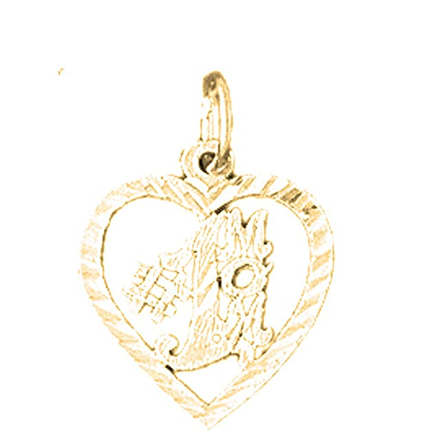 Jewels Obsession 14K White Gold #1 Mom Pendant 20 mm