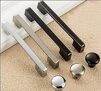 Alliage de zinc TM Lot de 10 Poign/ée de Meuble Noir Entraxe 160 mm,Cuisine Armoire Porte Poign/ées Placard Tiroir Chambre Meubles Tirer FBSHOP