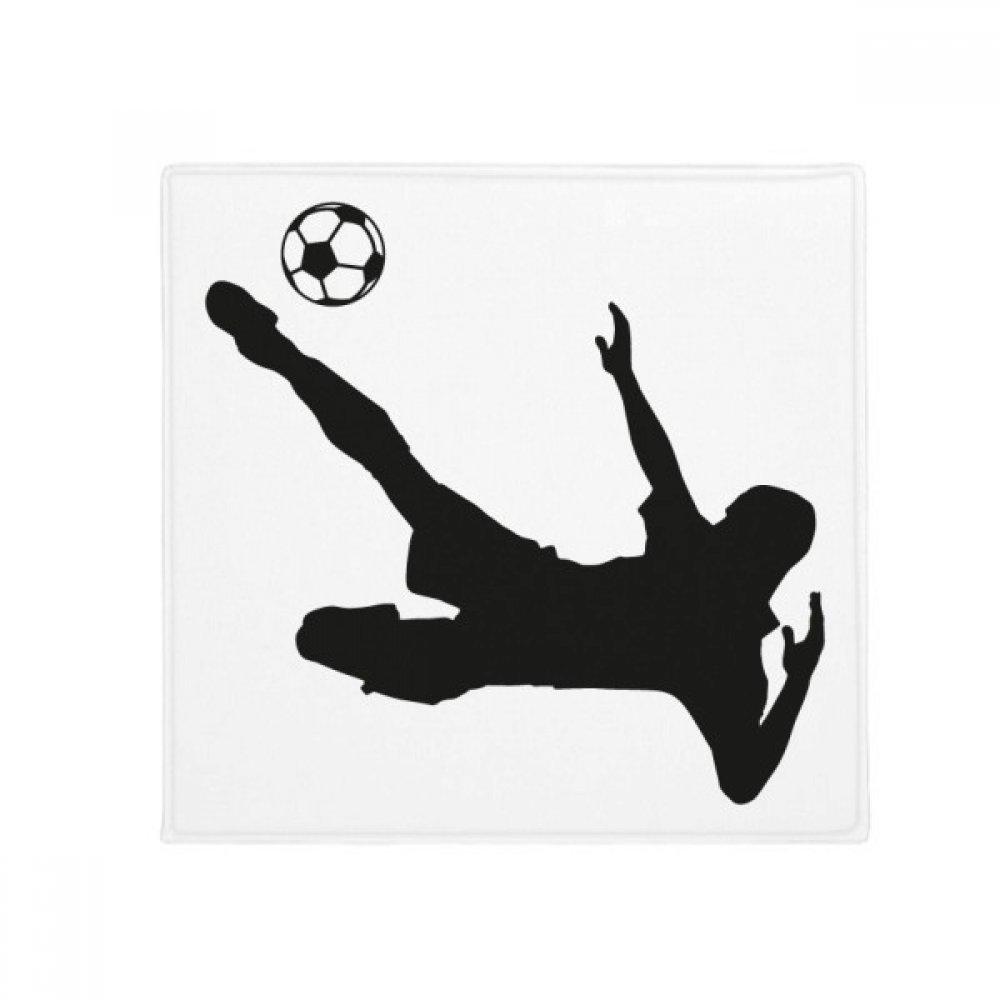DIYthinker Soccer Football Silhouette Sports Anti-Slip Floor Pet Mat Square Home Kitchen Door 80Cm Gift