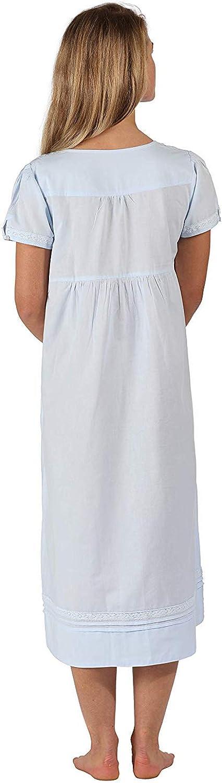 con Tasche The 1 for U 100/% Cotone Camicia da Notte Lara M Blu