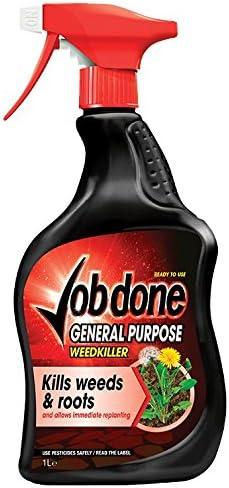 Job Done General Purpose 1lt RTU Weedkiller, Black, 1L: Amazon.co ...