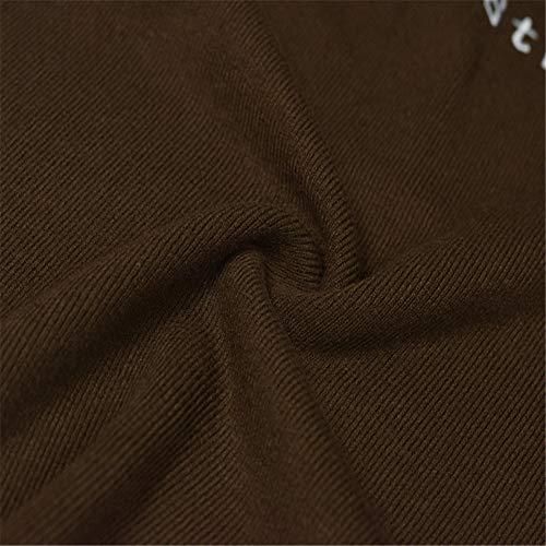 Del Marrone alta Superiore Metà Maglione Colletto Maglia Dolce Centrale Scuro Centro Shirloy Della Lettera Collare Parte Ricamo qZptwt