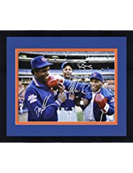 d37fab0c5 Framed Dwight Gooden, Darryl Strawberry & Mike Tyson New York Mets Autographed  16