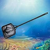 Senzeal 5.5 Inch Large Fish Net Aquarium Quick Net Fine Mesh Net Coarse Nylon Net Fish Tank Handle Black