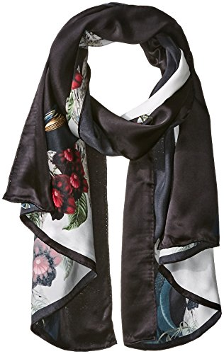Ted Baker London Women's Braiden Bejeweled Shadows Long Scarf, Black, One Size by Ted Baker