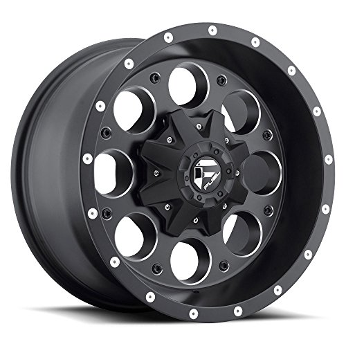 FUEL Revolver NB -BLK MIL Wheel with Painted (18 x 9. inches /8 x 165 mm, -12 mm Offset) (Fuel Revolver)
