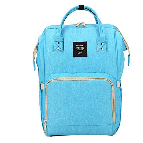 bigforest maternidad multifunción momia mochila de viaje bolso de mano bolso cambiador de pañales para bebé verde verde Talla:talla única azul celeste