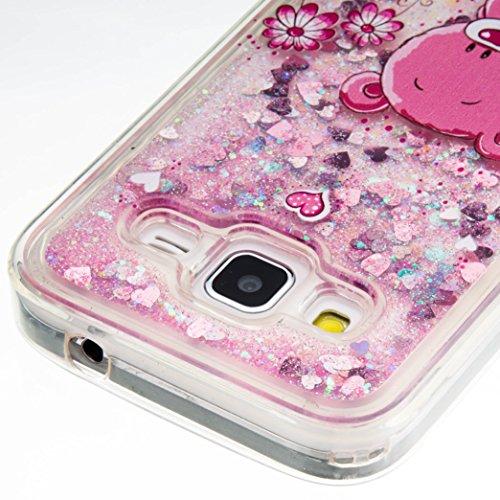 Para Samsung Galaxy Core Prime G360de SM sm-g361F (4,5pulgadas) funda, 3d fließen líquido para trucha, arenas movedizas estrella Bling Lujo Shiny brillo Sparkle Cristal Crystal Multicolor de amor d 15