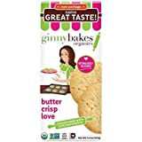 Ginnybakes Organic Gluten Free Butter Crisp Love5.5 oz (Pack of 8) by Ginnybakes