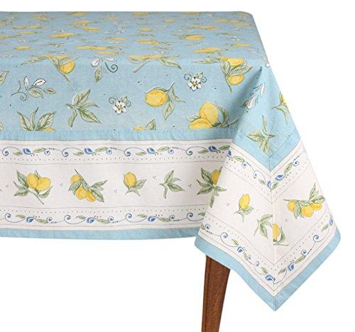 (Mahogany Lemon Blue Rectangle Tablecloth, )