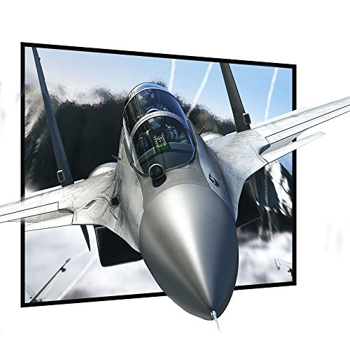 Projector Screen 120 Inch 4:3 NIERBO Portable Movies Screen HD Projection Screen for Home Indoor Outdoor 120' Projector
