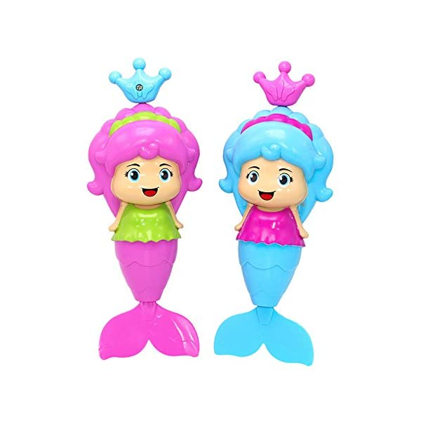 Mermaid Bath Tub Fun Swimming Baby Bath Toys Wind Up Floating Water Toy For Kids