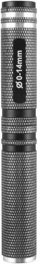 16mm Leoboone Negro y azul 0-14mm acero del agujero de sierra de instalaci/ón abridor Perforadora Escariador Para RC Car Kit Auto juguete 130 16
