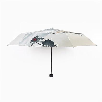 Paraguas plegable GXSCE Ultra protector, paraguas liviano, paraguas plegable, fácil de transportar,