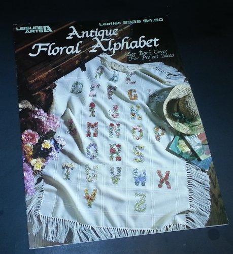Antique Floral Alphabet - Counted Cross Stitch Patterns - Le